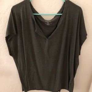 Slouchy olive top